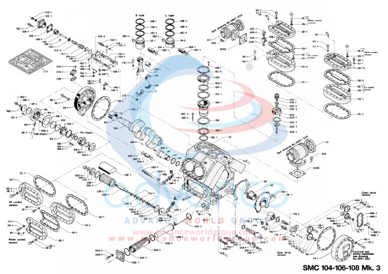 SABROE-COMPRESSOR-EXPLODED-VIEW--SMC-106-104